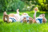 Família fazendo piquenique — Foto Stock
