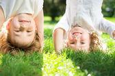 Crianças se divertindo ao ar livre — Foto Stock