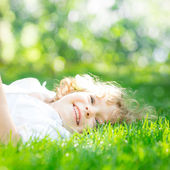 Child in spring — Stock Photo