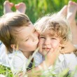Children in spring — Stock Photo