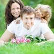 Family having fun outdoors - Stock fotografie