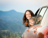 Family car trip — Stockfoto