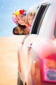 Summer car trip — Stock Photo
