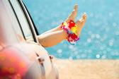 Yaz araba gezisi — Stok fotoğraf