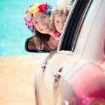 Summer car trip — Stock Photo