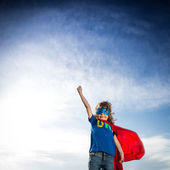 Superhero kid — Stock Photo