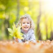 Child in autumn park — Stock Photo #30016827