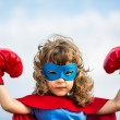 Superhero kid. Girl power concept — Foto Stock