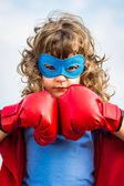 Superhero kid. Girl power concept — Foto Stock