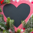 Christmas card blank in heart shape — Stock Photo #33133599