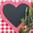 Christmas card blank in heart shape — Stockfoto