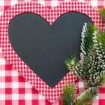 Christmas card blank in heart shape — Stock Photo