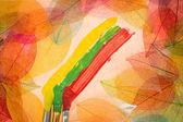 Autumn art background — Stock Photo