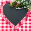 Christmas card blank in heart shape — Stock Photo