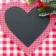 Christmas card blank in heart shape — Foto Stock
