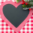 Christmas card blank in heart shape — Stock Photo #34648427