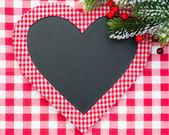 Carte de Noël blanc en forme de coeur — Photo