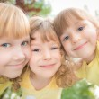 Low angle view portrait of happy children — Stock Photo #39858811