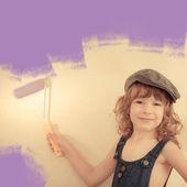 çocuk boyama duvar — Stok fotoğraf
