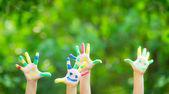 Happy hands — Stock Photo