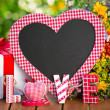 Blackboard in heart shape — Stock Photo