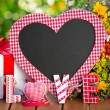 Stock Photo: Blackboard in heart shape