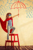 Niño superhéroe — Foto de Stock