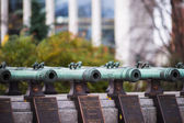 Old Cannons In Moscow Kremlin — Stock Photo