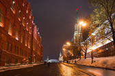 The Kremlin Passway To The Red Square At Winter Night — Stock Photo