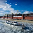 Royalty-Free Stock Photo: Moscow river and Moscow Kremlin in early spring