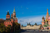 View Of Moscow Kremlin Towers And Red Square In Autumn — Stock Photo