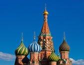 Vasily The Blessed cathedral on Moscow Red Square — Stock Photo