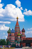 Vasily the Blessed cathedral and the Red Square of Moscow — Photo