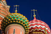 Domes Of The Vasily The Blessed Cathedra — Stock Photo