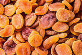 Dried pitted and halved apricots — Stock Photo