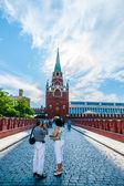 Kremlin tour 03: Bridge over tunneled Neglinnaya river — Stock Photo