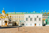 Kremlin tour 16: Cathedral square of the Kremlin of Moscow — Stock Photo