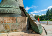 Kremlin tour 23: Point of fault of Tsar Bell of the Kremlin — Stock Photo
