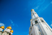 Kremlin tour 26: Annunciation cathedral and Ivan the Great belfry of the Kremlin — Stock Photo