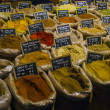 Various spices in the market - Stock Photo