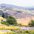 Panoramic views of the Tuscan-Emilian Apennines - Stock Photo