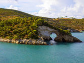 Landscapre of the coast of Gargano Apulia Italy — Stock Photo