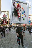 Single form of Burlamacco symbol of the carnival of Viareggio at Viareggio Carnival — Stock Photo