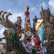 Stock Photo: Allegorical float on exploitation of natural resources at Viareggio Carnival