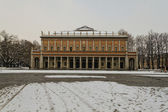 Panoramic view of the theater of Reggio Emilia — Stock Photo
