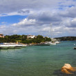 Panoramic view of the city of Porto Rotondo in Sardinia — Stock Photo