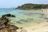 Praia perto de villa simius sardenha itália — Foto Stock