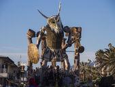 VIAREGGIO, ITALY - FEBRUARY 2: allegorical float about greek — Stock Photo