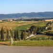 Panoramic views of the Tuscan hills — Stock Photo
