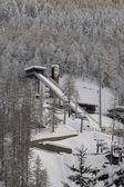 Springboard for ski jumping — Stock Photo